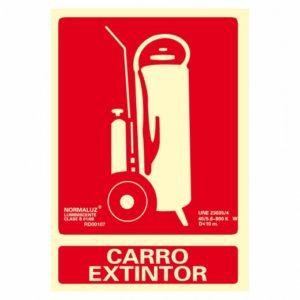 señal carro extintor