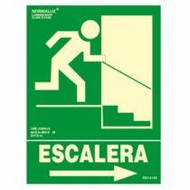 señal evacuacion escalera derecha