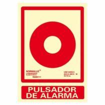 señal pulsador de incendio