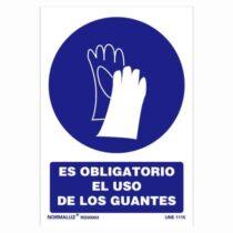 señal es obligatorio el uso de los guantes