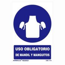 señal uso obligatorio de mandril y manguitos
