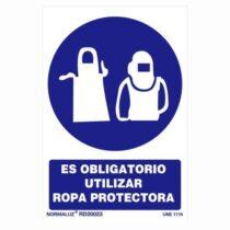 señal obligatorio utilizar ropa protectora