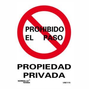 señal propiedad privada