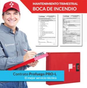 mantenimiento trimestral bie boca de incendio pro l