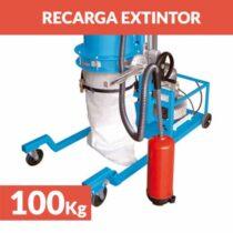 recarga extintor polvo 100kg