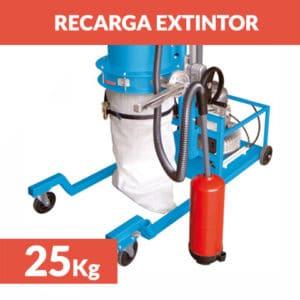 recarga extintor polvo 25kg