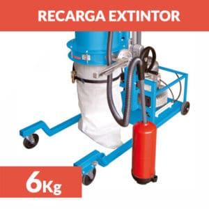 recarga extintor polvo 6 kg