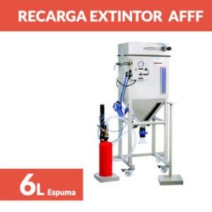 recargar extintor espuma afff 6l
