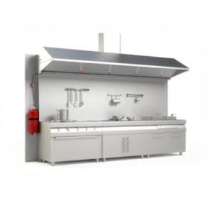 extincion automatica en cocinas kit